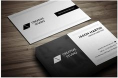 Dual Backside Business Card Design Template