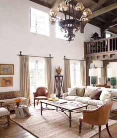 Architecture, Reese Witherspoon House Elle Decor Vintage Home In California: Awesome Reese Witherspoon's Vintage Home In California Mediterranean Living Rooms, Mediterranean Decor, Mediterranean Architecture, Living Room Designs, Living Room Decor, Living Spaces, Living Area, Barn Living, Home And Living