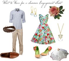 """What to Wear for a Summer Engagement Shoot"" by anniekatherine on Polyvore"