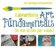 Our weekly art lessons have been EASY this year.  Oh, and very educational, too!