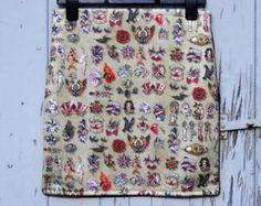 Geek Grumpy Cat Pencil Skirt Size 8 10 12 by CupcakesChopsticks