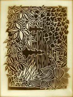 The Secret Garden, Linocut, Gregorio Perez Zentangle Drawings, Zentangles, Linocut Prints, Art Prints, Art Assignments, Collagraph, Tangle Doodle, Flower Doodles, Mark Making