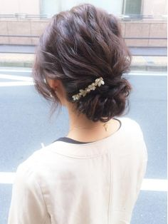 2016年最新版!結婚式お呼ばれヘアアレンジ・大人可愛い髪型特集!ハーフアップ・アップヘアー -page2 | Jocee Beauty Makeup, Hair Makeup, Hair Beauty, Pretty Hairstyles, Wedding Hairstyles, Hairstyle Ideas, Hair Arrange, Prom Hair, Hair Inspiration