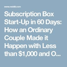 Starting A Subscription Box Company All Your Questions Answered Great Ideas Pinterest Business And Blogging