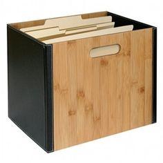 Bamboo Storage Collection File Box   Amazon   $50