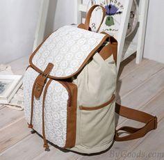 Fresh Sunflower Lace Bucket Drawstring Hasp School Bag Travel Backpack