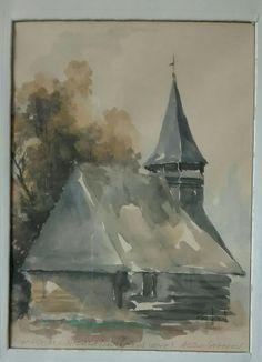 NICULA /manastirea veche. / 30x40 / acuarelă / autor Alex Ivanov /colecție Lucia Maria Verdeș /