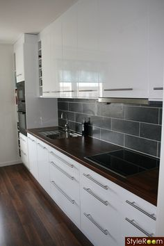 Kitchen Tiles Gloss Ikea Cabinets Reno Remodel