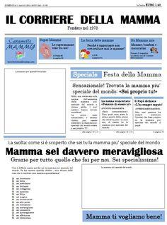 Il biglietto di auguri per la mamma: un giornale davvero speciale