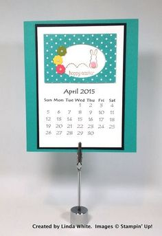 Create a handcrafted 12 month calendar and FREE PDF! Order Stampin' Up! products on-line. Mary Fish, Top 10 Independent Stampin' Up! 12 Month Calendar, Calendar Pages, Calendar Ideas, Calendar Printable, Perpetual Birthday Calendar, Create A Calendar, Post It Note Holders, Stampin Up Cards
