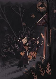 Halloween | Illustrator: Roman Muradov | Prints available from source