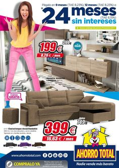 Estrenamos NUEVO FOLLETO con los mejores precios, muchas novedades y excelentes y fáciles métodos de pago o financiación. ¡¡A qué esperas para verlo!!   https://view.publitas.com/p222-1952/folleto-ahorro-total-primavera-2017/page/1      #hogar #ahorro #muebles #ofertas #sofas #colchones #mesas #deco #decoracion #ahorraonunca #casa