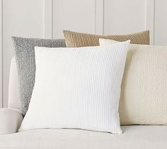 Honeycomb Pillow Cover #potterybarn  In flagstone (grey/blue) or Sailor Blue