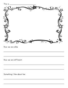 """This is a worksheet I created to help with the Violet petal, which is how they learn to """"Be a Sister to Every Girl Scout."""""""