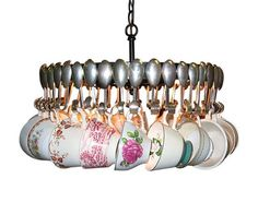 Antique Spoon Chandelier With Teacups ($599-$1,599)
