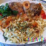Recette d'Osso buco de porc Spaghetti, Meat, Chicken, Ethnic Recipes, Food, Egg Noodles, Ham Hock, Oven Cooking, Essen