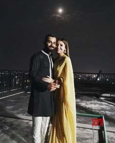 """Cricketer Virat Kohli- Actress Anushka Sharma tied the knot last December and the duo fondly called as """"Virushka"""" celebrated their first Karvachauth today Bollywood Couples, Bollywood Stars, Bollywood Fashion, Bollywood Wedding, Anushka Sharma Virat Kohli, Virat And Anushka, Indian Wedding Couple Photography, Couple Photography Poses, Dream Photography"""