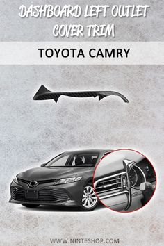 Fit For Toyota Camry 2018  front cover dashboard left outlet cover Matte silver