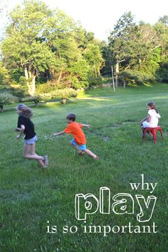 Why play is so important for early childhood and school age children, with excerpts from Po Bronson's Nurture Shock.