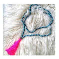 "•Use code ""amelia10"" at checkout for 10%off! • Nepal Turquoise Tassel Necklace www.PearlsAndRocks.com"