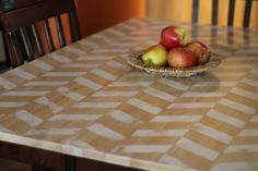 Herringbone Table Makeover » Twin Dragonfly