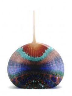 A Glass Vessel, Stephan Rolfe Powell, Height 27 1/2 Inc