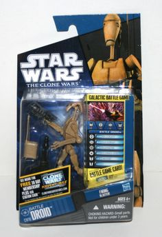 """2010 Hasbro Battle Droid CW19 'The Clone Wars' 3 3 4"""" AF in Package Star Wars 