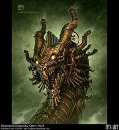 Steampunk Dragon by Kerem Beyit