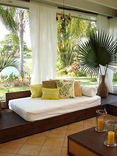 Tropical Living Room   Come find more on Zillow Digs 25 Comfortable Living Room Seating Ideas without Sofa  . Living Room Without Sofa. Home Design Ideas