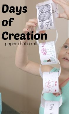church Recreate the Creation Story with a simple paper chain craft Bras - A Guide For Single Fathers Kids Sunday School Lessons, Sunday School Crafts For Kids, Bible School Crafts, Bible Crafts For Kids, Kids Bible, Gods Creation Crafts, Creation Activities, Days Of Creation, Church Activities