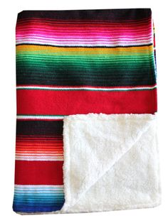 Baja Baby™ Mexican Serape Baby Blanket -Red