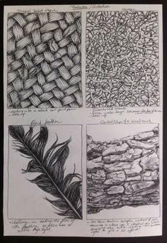 Texture Sketch, Pencil Texture, Texture Drawing, Texture Design, Pencil Drawings, Art Drawings, Visual Texture, Texture In Art, Texture Walls