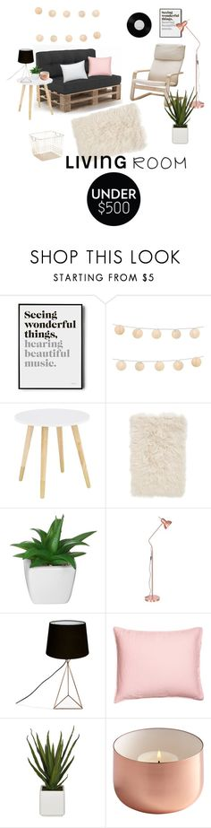 """""""living room under 500$🌵"""" by vi0letx ❤ liked on Polyvore featuring interior, interiors, interior design, home, home decor, interior decorating, LumaBase, Nordstrom, Crate and Barrel and living room"""