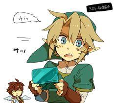 Nintendo #3DS, Pit and Link returns (2011, 2012) #KidIcarus #Zelda