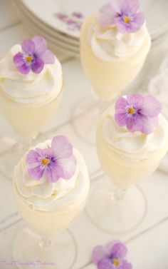 Pink Piccadilly Pastries: Lemon Mousse Teatime Parfaits