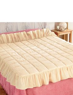 PLAIN TRADITIONAL EIDERDOWN STYLE QUILT - Home Bedroom