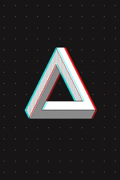 The Penrose Triangle in 3D Don your stereoscopic red/cyan glasses for full effect.
