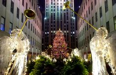 Rockefeller Center houses an 85-foot-tall Norway Spruce, trimmed by some 45,000 LED lights.