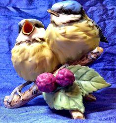 Kaiser Bird Figurine Blue Tit Porcelain PICK UP ONLY