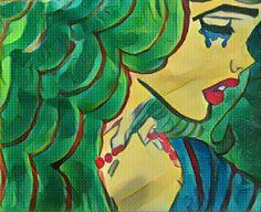 Pintura a óleo #óleo #pintura #popart #desenho #mulher