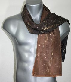 Hey, I found this really awesome Etsy listing at https://www.etsy.com/listing/211342013/brown-mens-scarf-brown-hand-painted-silk