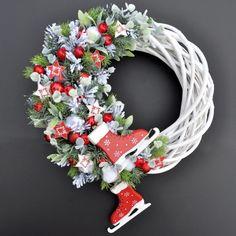 Christmas Wreath with Ice Skates