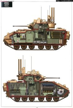 Bradley cut away Army Vehicles, Armored Vehicles, Bradley Fighting Vehicle, Military Drawings, Tank Armor, Tank Destroyer, Military Weapons, Military Tank, Military Pictures