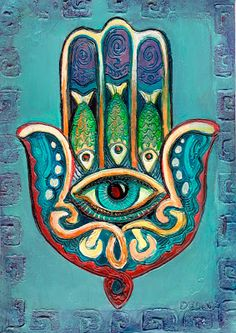 he Hamsa is an ancient The Hamsa Middle Eastern amulet symbolizing the Hand of God. In all faiths it is a protective sign. It brings its owner happiness, luck, health, and good fortune Mandala Art, Art Arabe, Art Hippie, Hamsa Art, Afrique Art, Arabic Art, Jewish Art, Hand Of Fatima, Mexican Art