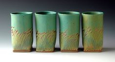 Grass Beakers by Hayne Bayless Pottery Pots, Ceramic Pottery, Ceramic Clay, Ceramic Plates, Clay Set, Pottery Workshop, Pottery Designs, Pottery Ideas, Ceramics Projects