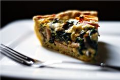 Yummy! I made it tonight with ham and cheddar cheese.  A slice of fully loaded quiche