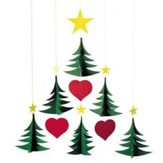 Christmas mobile - would look fantastic in my window over the register!