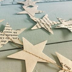 Nordic Star Garland // Christmas garland // bookpage bunting