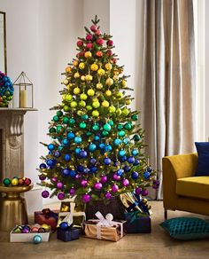 This will be the biggest Christmas 2018 decorating trend, the Rainbow Christmas tree 2018 This will be the biggest Christmas 2018 decorating trend, reveals John Lewis Rainbow Christmas Tree, Christmas Baubles, Xmas Tree, Christmas Lights, All Things Christmas, Christmas Home, Christmas Kiss, Christmas Sayings, Christmas Island