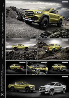 Mercedes-Benz представил концептуальный пикап X-Class сразу вдвух версиях - Cardesign.ru - Главный ресурс о транспортном дизайне. Дизайн авто. Портфолио. Фотогалерея. Проекты. Дизайнерский форум.